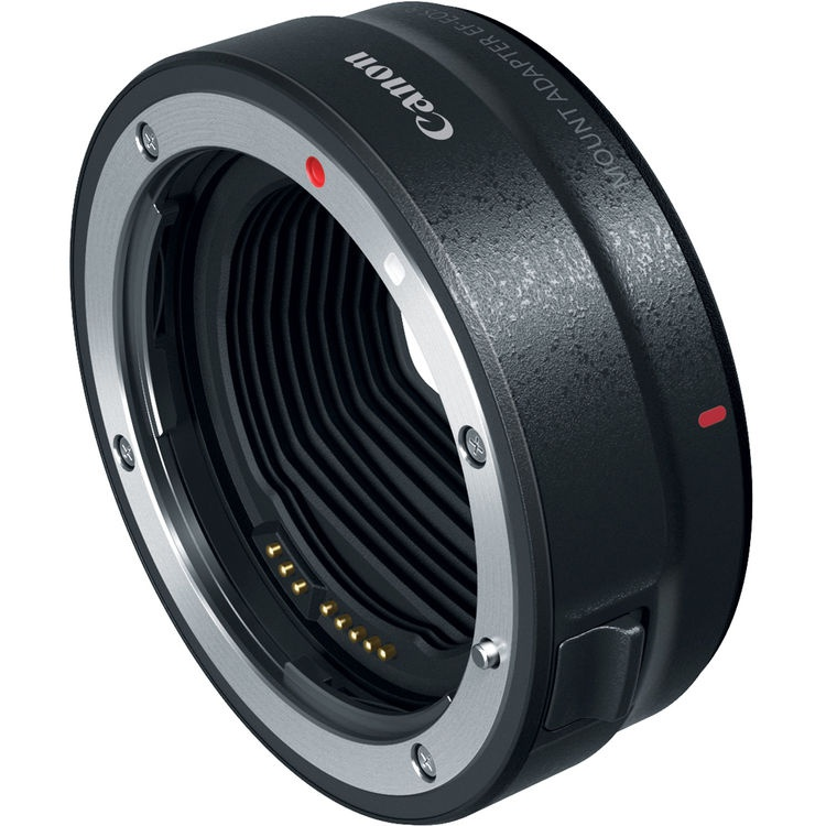 The Canon EOS RF lens adapter allows the use of EF and EF-S lenses.