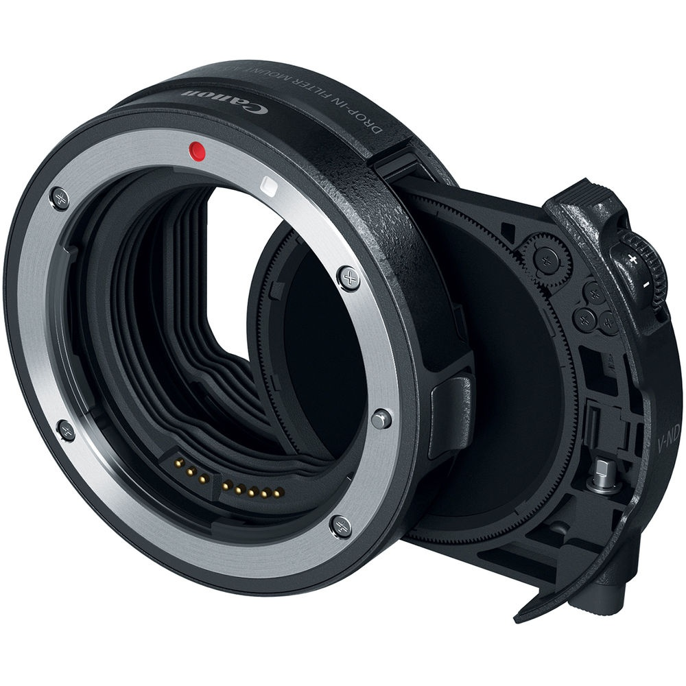 Canon EOS R allows the use of filters with certain EF lenses.