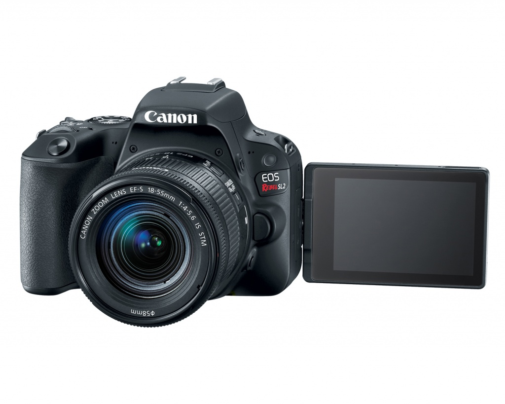 The Canon EOS Rebel SL2 has a 3.0-inch touch-enable LCD monitor.