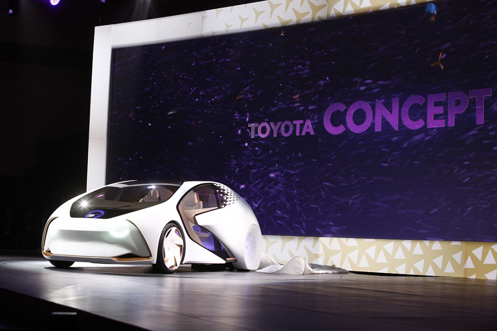 Toyota showed off this concept car at CES 2017. (CES 2017)