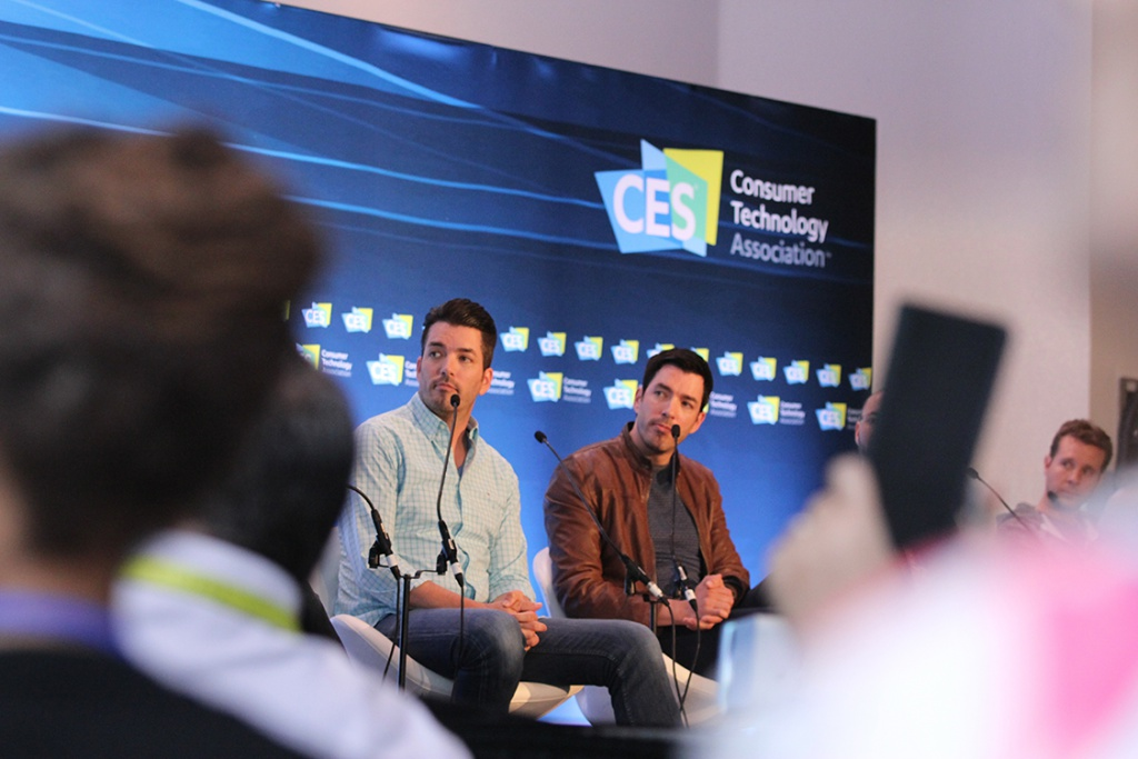 "Jonathan and Drew Scott, of HGTV's ""Property Brothers"" show, were at CES 2017 to talk about smart homes. (CES 2017)"