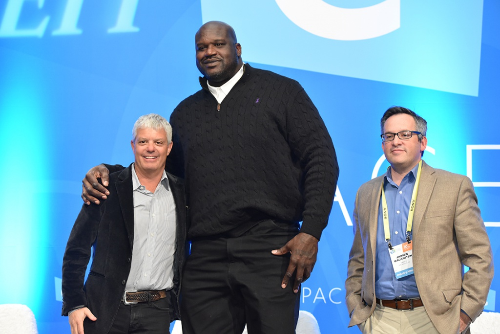 Former pro basketball player Shaquille O'Neal was likely the biggest person (in terms of stature and popularity) to be at CES 2017. (CES 2017)