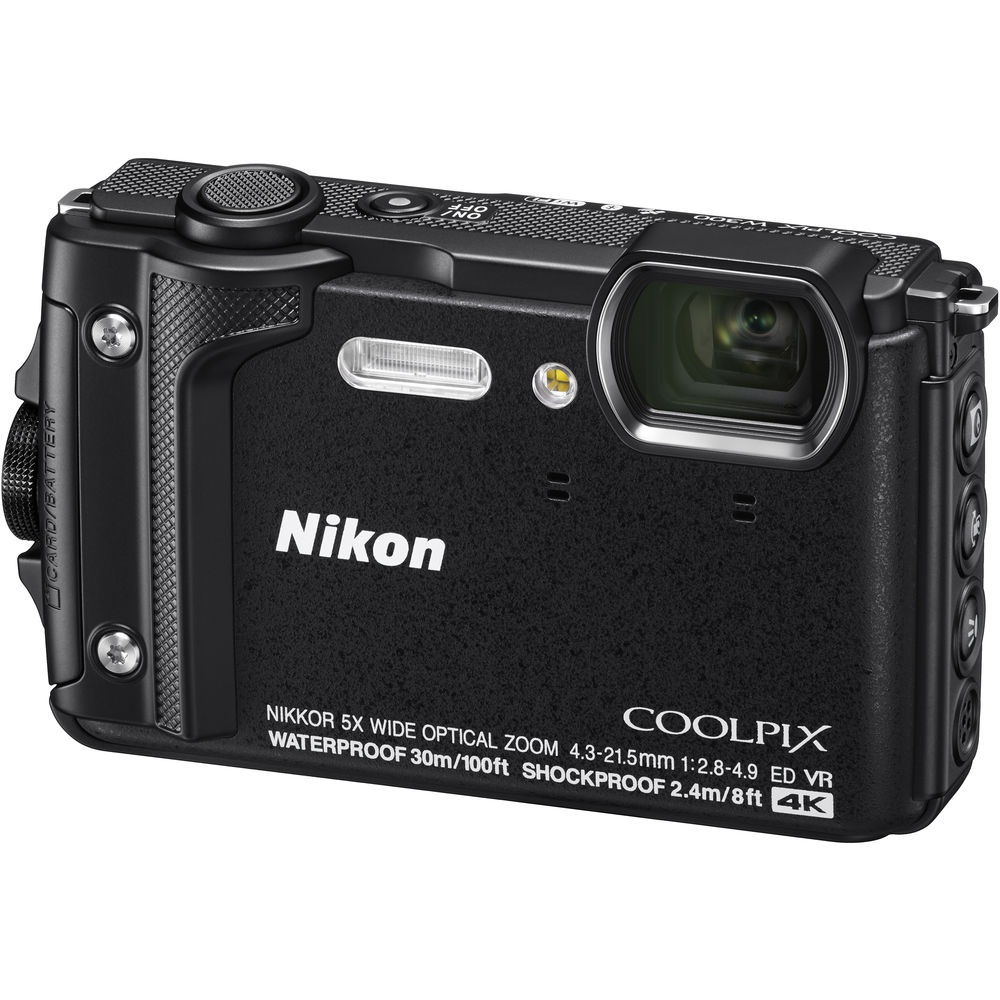 The Nikon Coolpix W300 uses a 16-MP CMOS sensor.