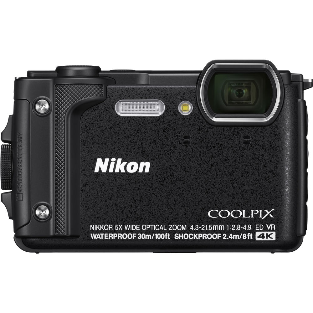 The Nikon Coolpix W300 is waterproof to a depth of 100 feet.