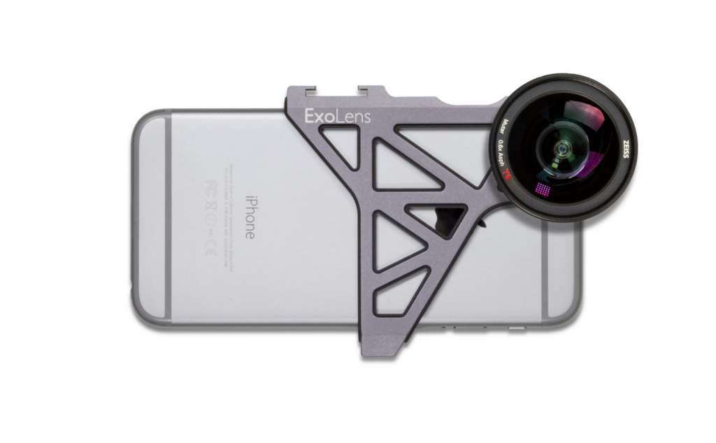 The Zeiss ExoLens bracket is available for the iPhone 6 and 6 Plus.