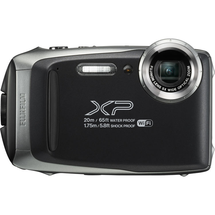 The Fujifilm Finepix XP130, seen in silver, can withstand hard use.