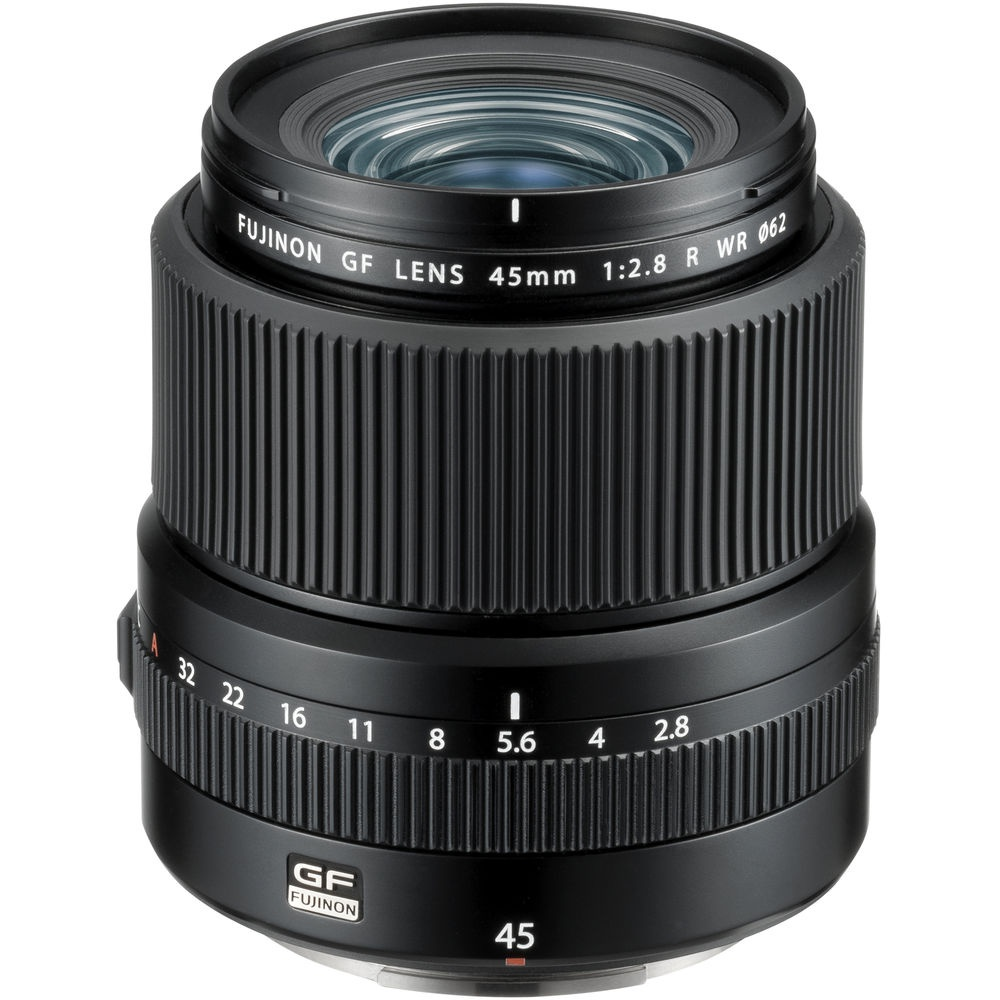 The Fujinon f/2.8 GF45mm R WR is a wide-angle lens for Fujifilm's digital medium format system.