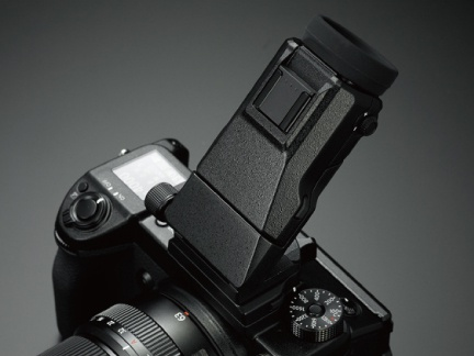 The tilting accessory for the Fujfilm GFX 50S's EVF.