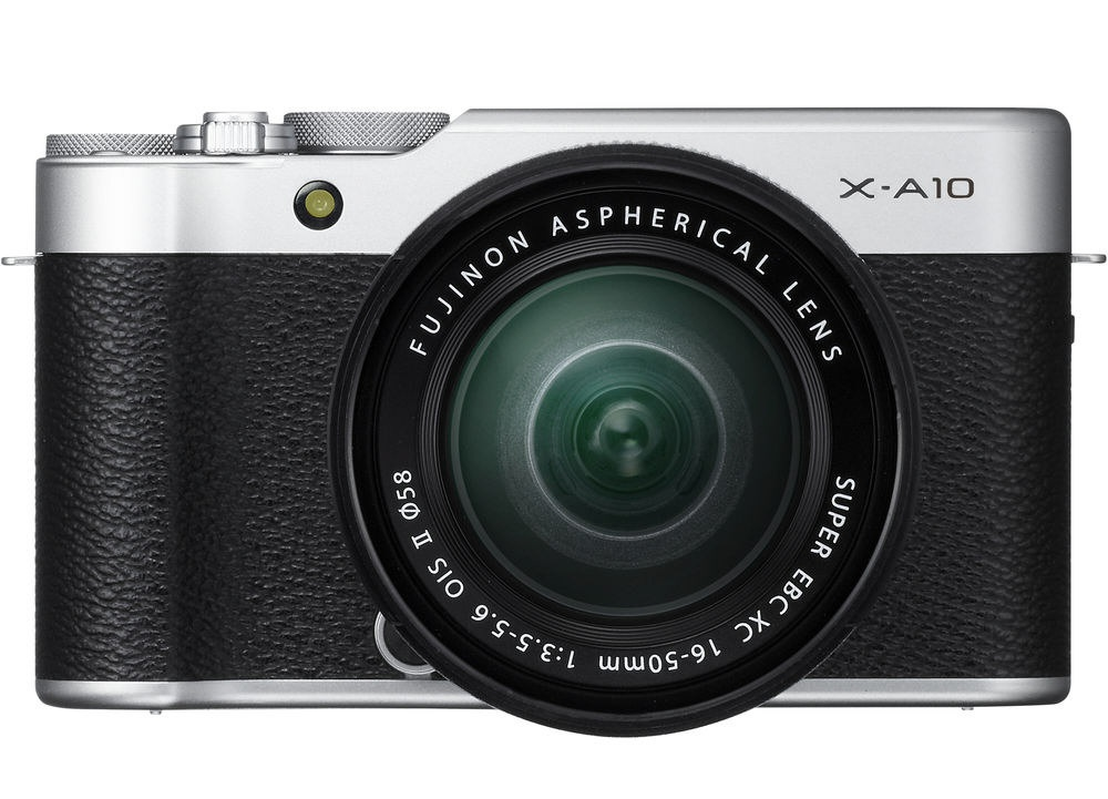 The Fujifilm X-A10 uses a 16.3-MP APS-C CMOS sensor.