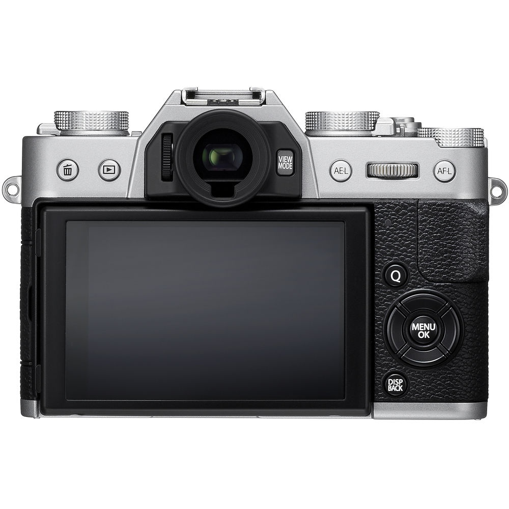 The Fujifilm X-T20 has a tilting LCD monitor and electronic viwfinder.