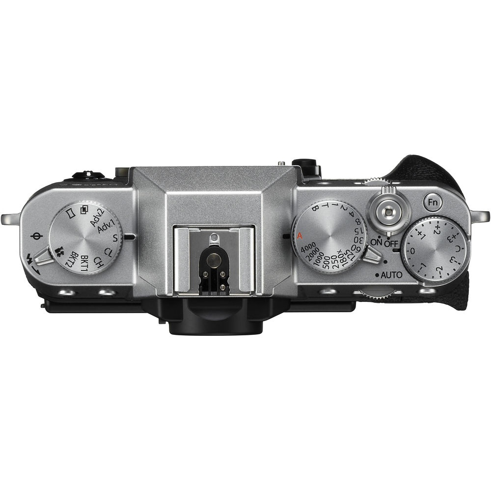 The topo deck and controls of the Fujifilm X-T20.