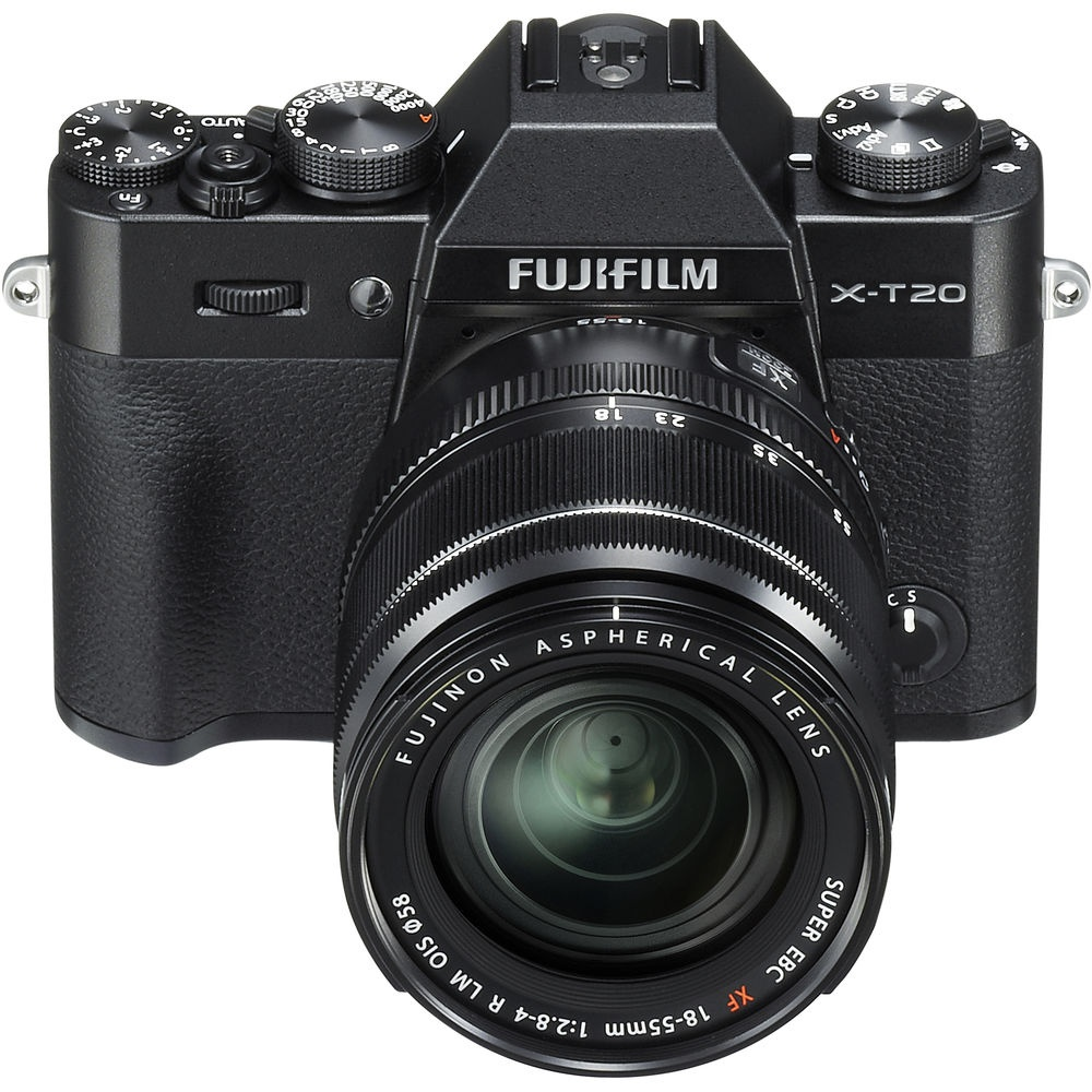 The Fujifilm X-T20 is also available in black.