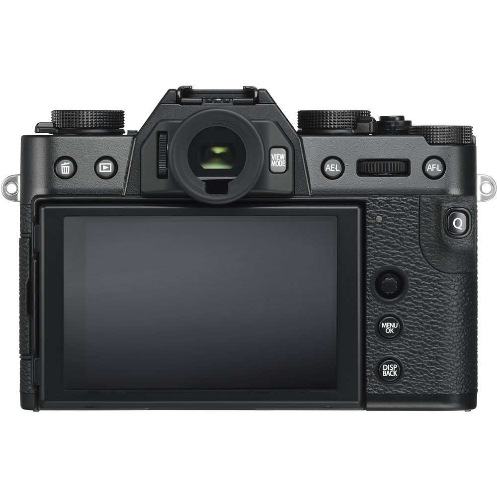 The LCD monitor and controls on the Fujifilm X-T30.