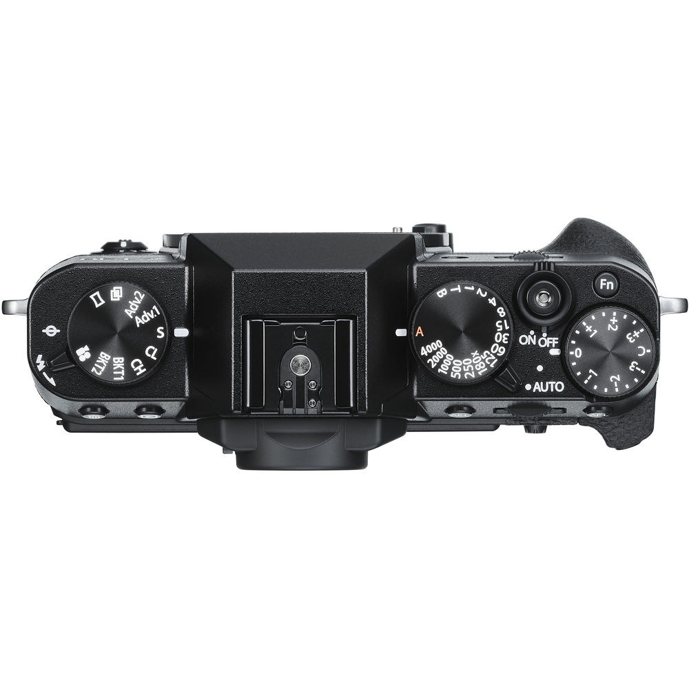 The top deck and controls of the Fujifilm X-T30.