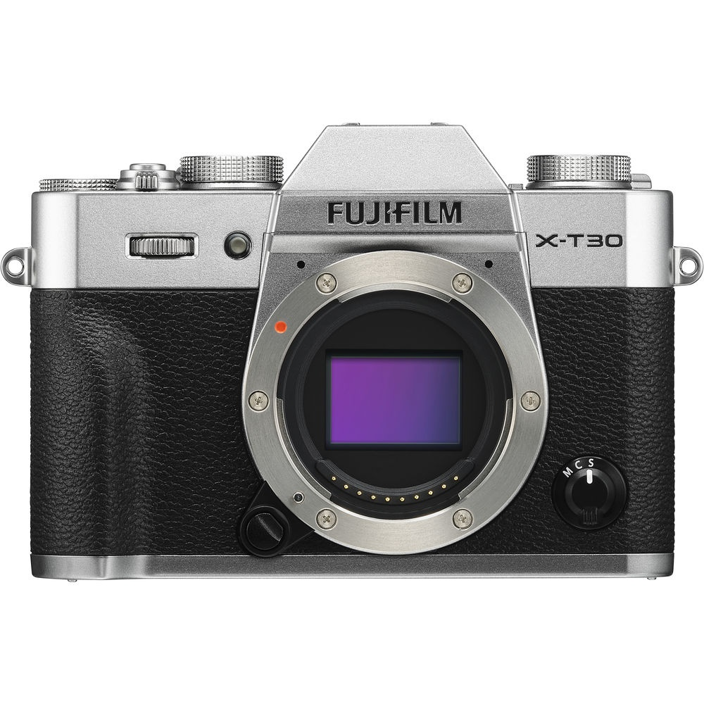 The Fujifilm X-T30 is also available in a silver body.