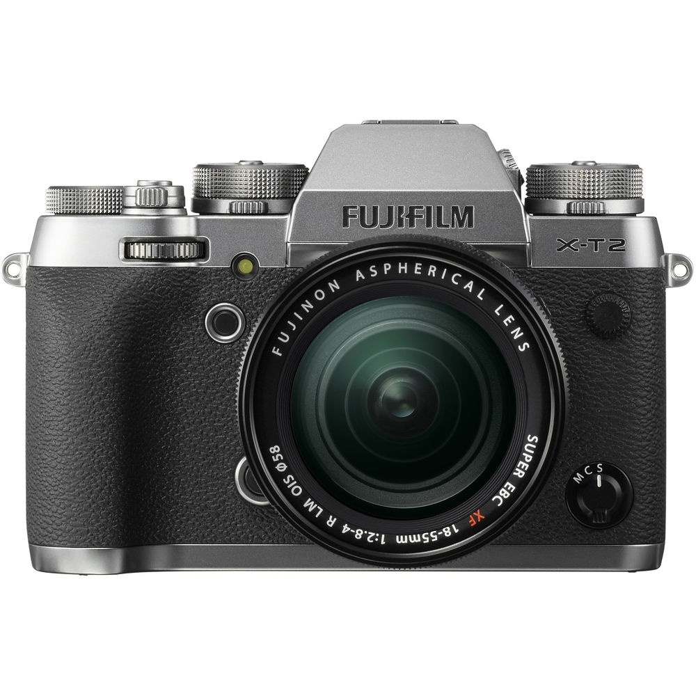 The Fujifilm X-T2 uses a 24.3-MP CMOS APS-C sensor.