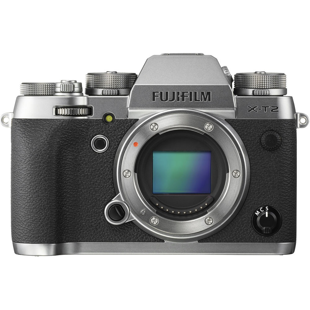 The Fujifilm X-T2 without a lens.