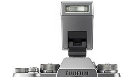 This electronic flash unit is part of the Fujifilm X-T2 Graphite Silver Edition kit.