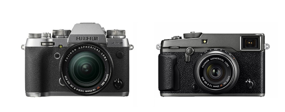 The Fujifilm FinePix X-T2 and X-Pro2 can be purchased in this graphite silver color scheme.