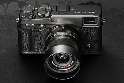 The Fujifilm X-Pro 2 uses a 24.3-MP CMOS APS-C sensor.
