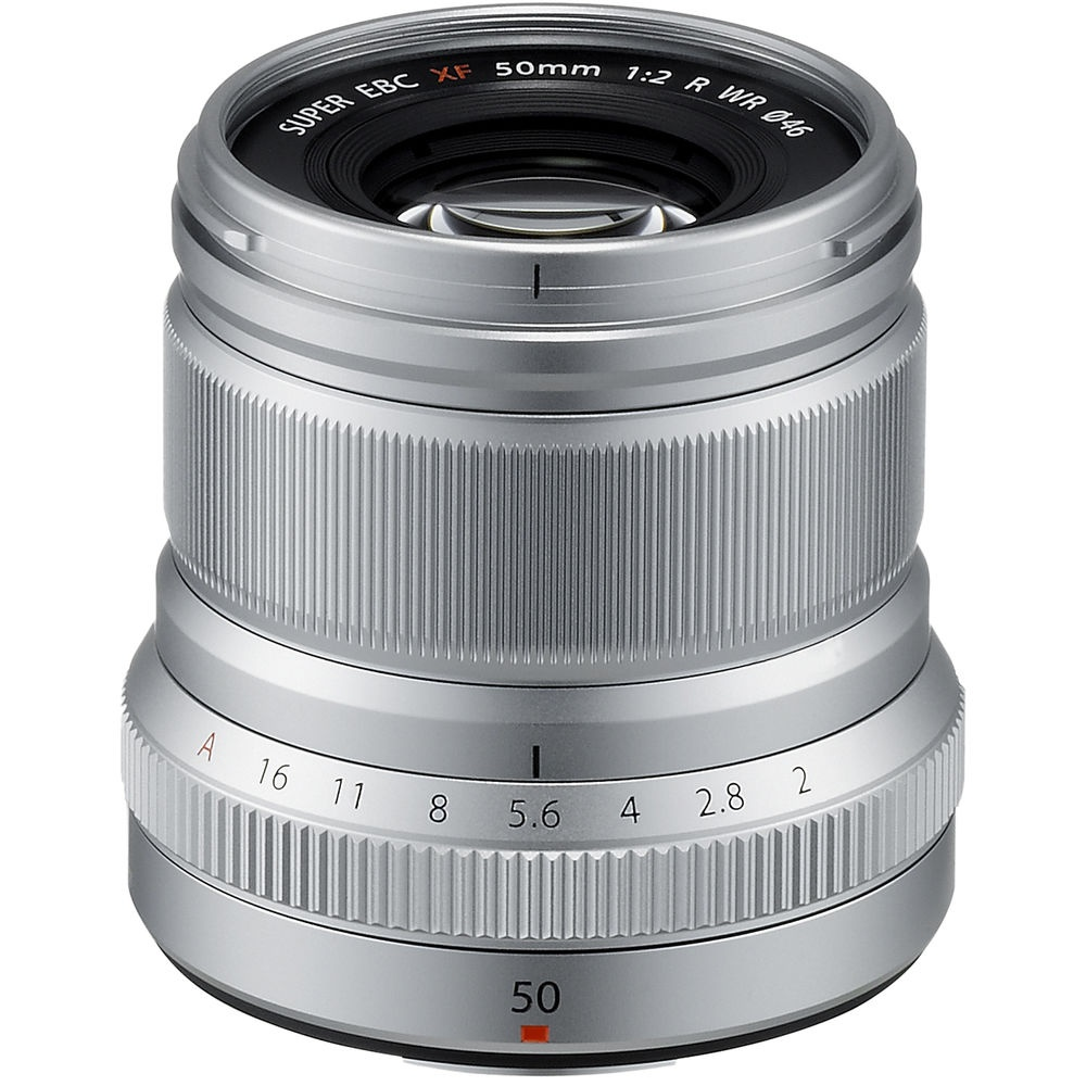 The Fujinon 50mm is also available in silver.