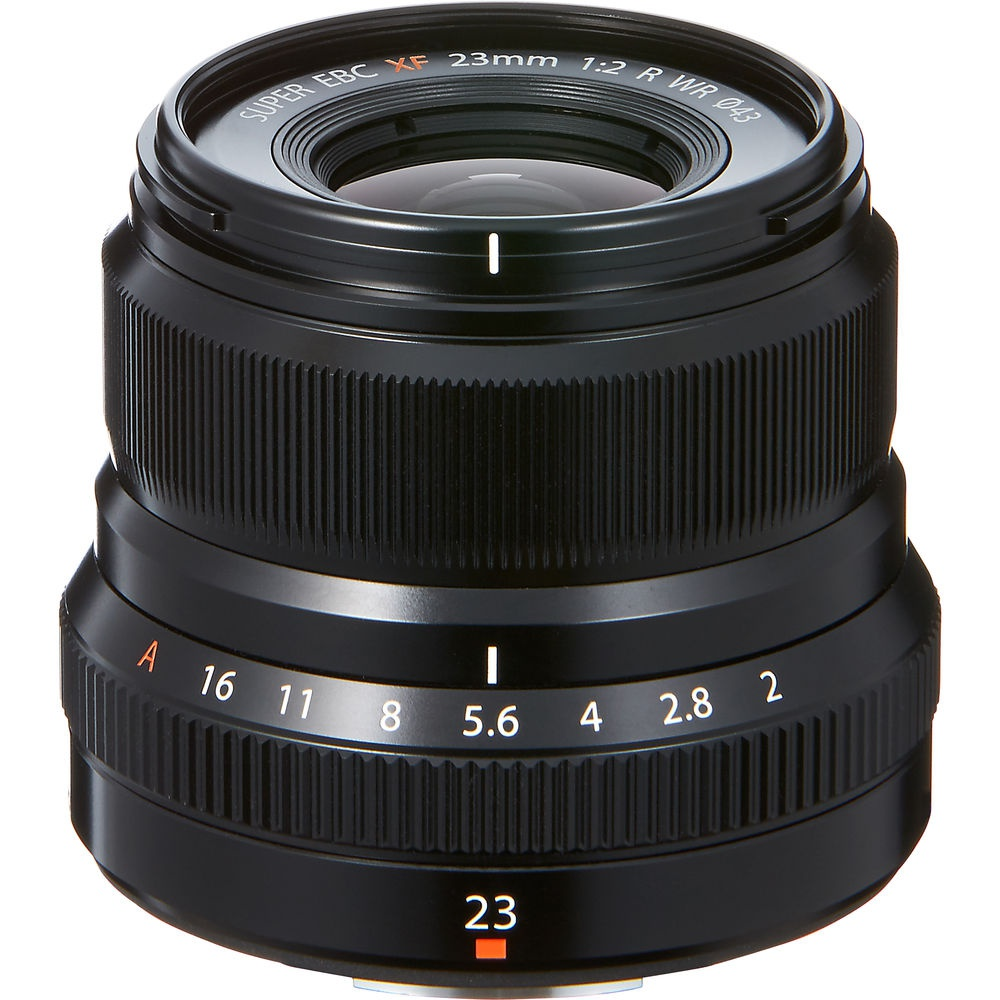 Fujinon XF23mmF2 R WR is a compact wide-angle lens.
