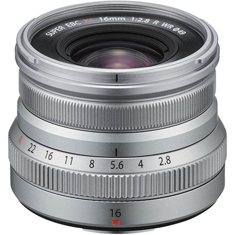The Fujinon 16mm is available in a silver barrel.
