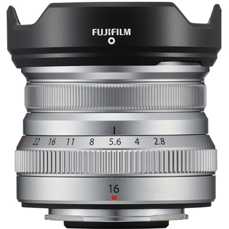 The lens shade for the Fujinon 16mm is available only in black.