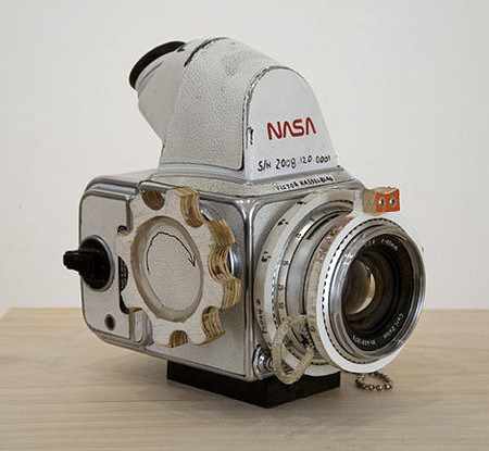 NASA sent a Hasselblad into space to capture man's trips to the moon.
