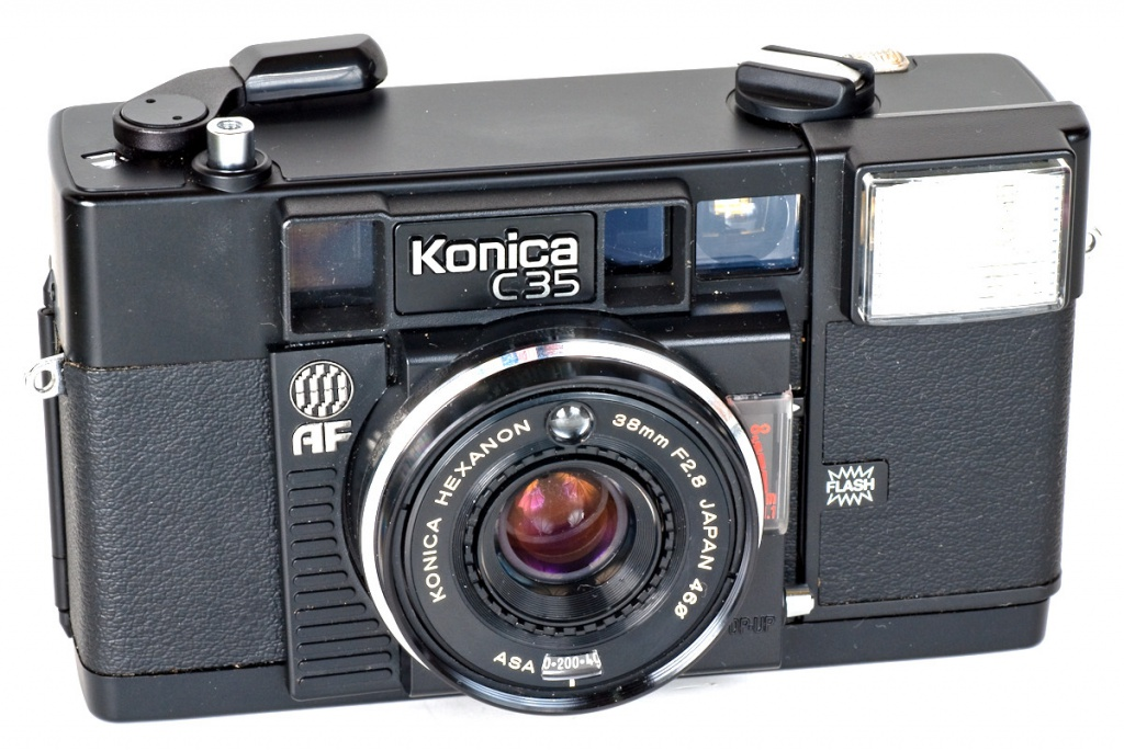 In 1977, the Konica C35 AF became the first consumer camera to provide autofocus.