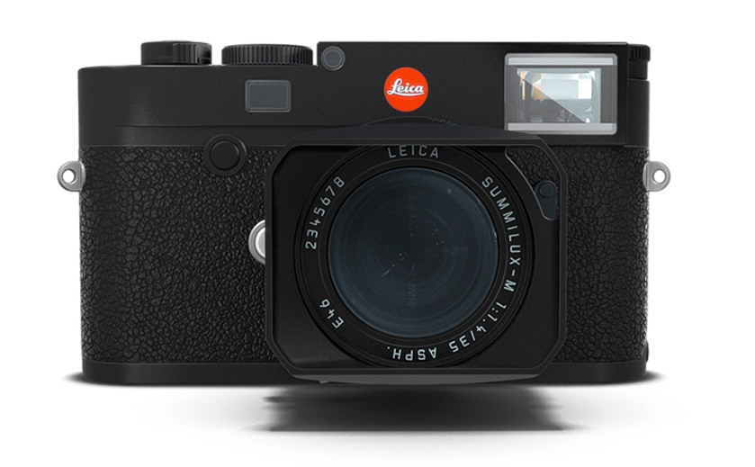 The Leica M10 in black.