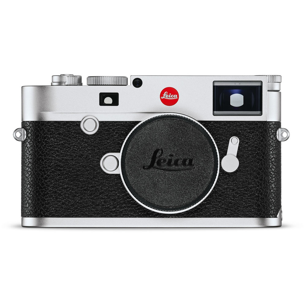 The Leica M10 body is available in silver.
