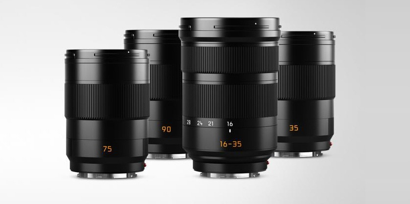 Leica also announced for upcoming lenses. All are ASPH. designs - from left, 75mm, 90mm, 16-35mm and 35mm.