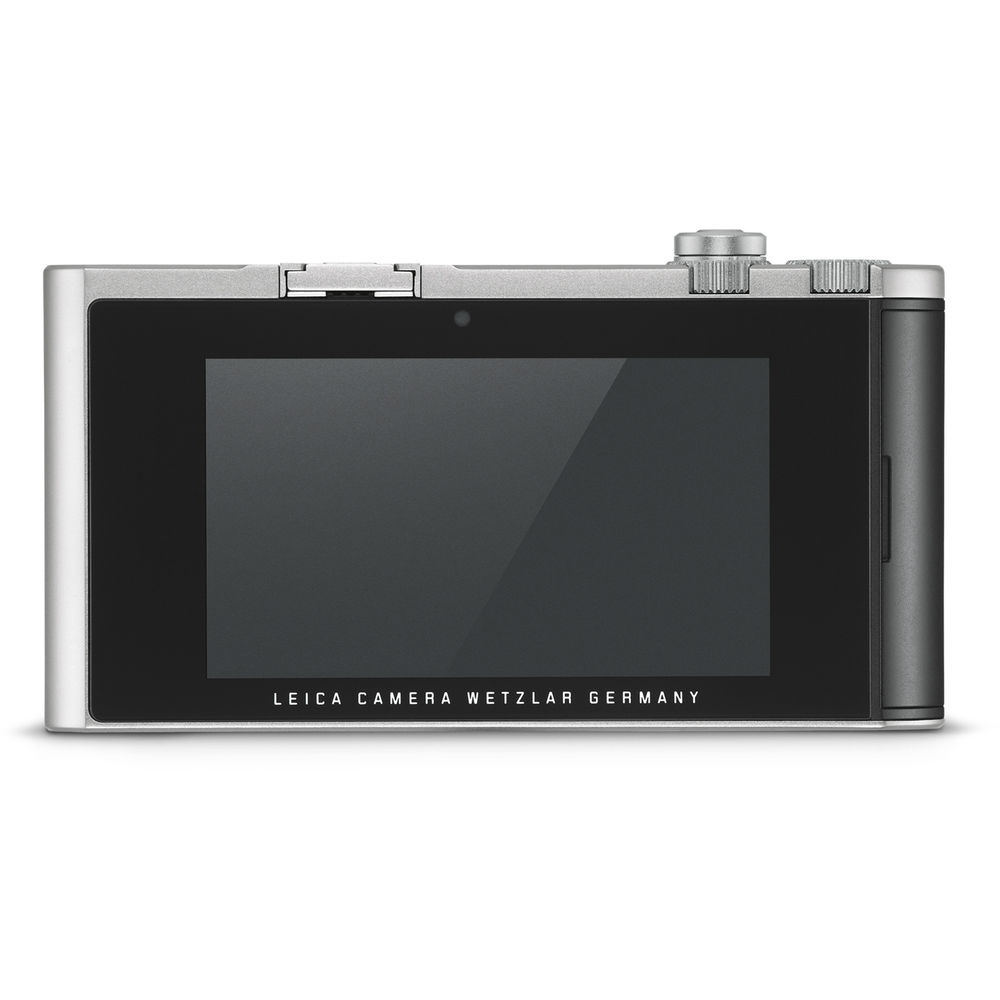 The rear of the silver Leica TL2.