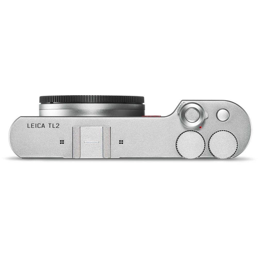 The top deck of the silver Leica TL2.