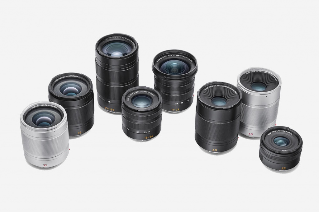 The six Leica lenses for the TL2 are available in black and silver.