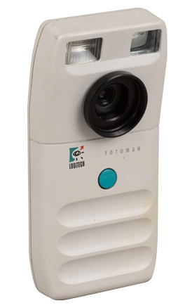 One of the first consumer digital cameras was the Logitech Fotoman of 1991. It was based on the Dycam Model 1. It took black and white photos only.