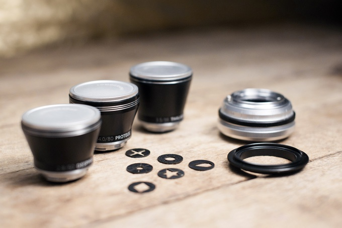 The Lomography Neptune Art Lens System will also include the macro adapter, which is the black ring in front of the lens base. It will allow the lens to be reversed for close-up photography.