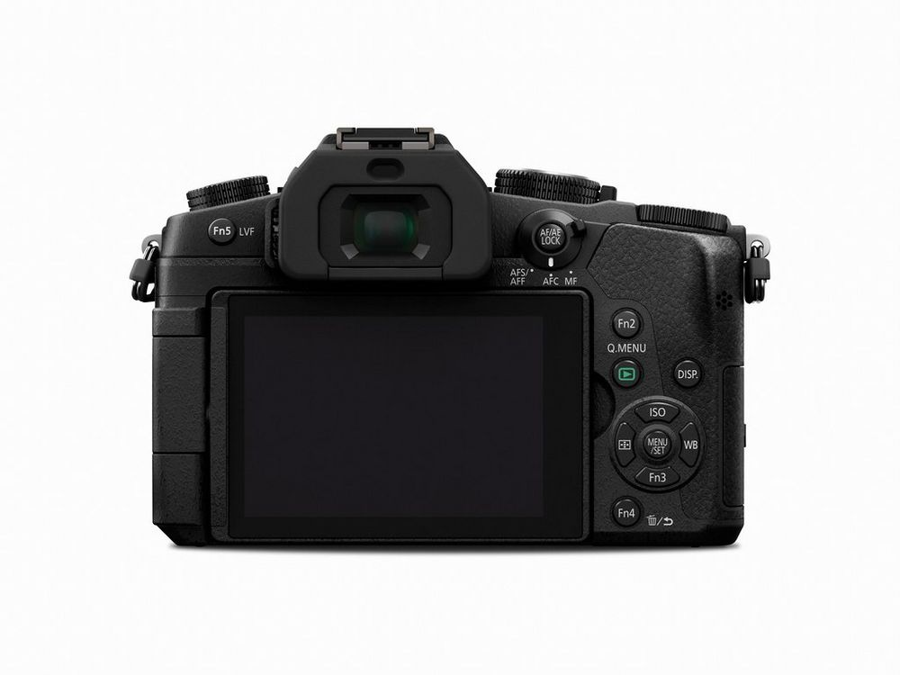 The rear of the Panasonic Lumix DMC-G85 has several user-defined function buttons.
