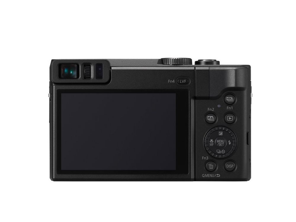 The touch-enabled LCD monitor sits below the electronic viewfinder.