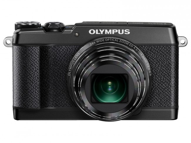 Olympus Stylus SH-2 is available in either silver or black.