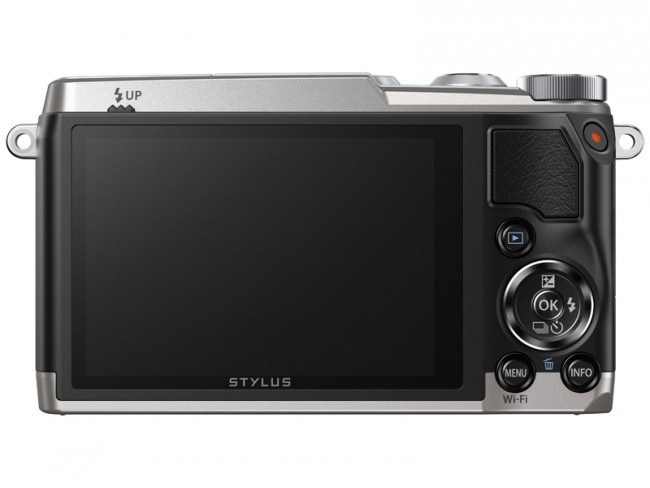 The LCD of the Olympus Stylus SH-2 is in a fixed position.
