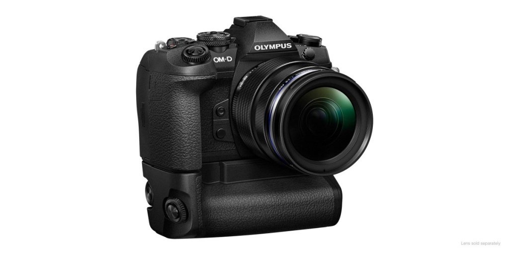The Olympus OM-D E-M1 Mark II with its accessory battery grip HLD-9.