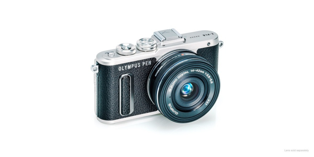 The Olympus Pen E-PL8 in black.