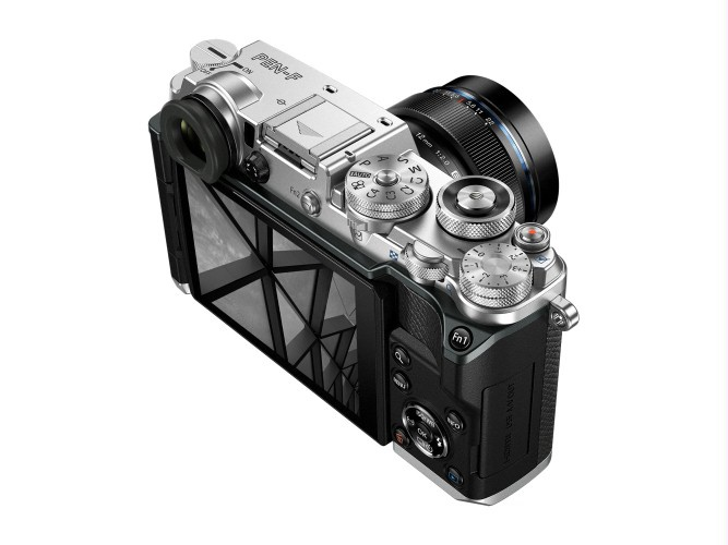 The rear of the Olympus PEN-F.