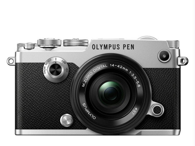The Olympus PEN-F in classic silver.