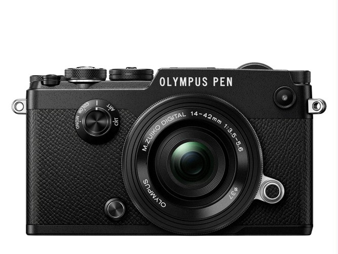 Olympus PEN-F in black.