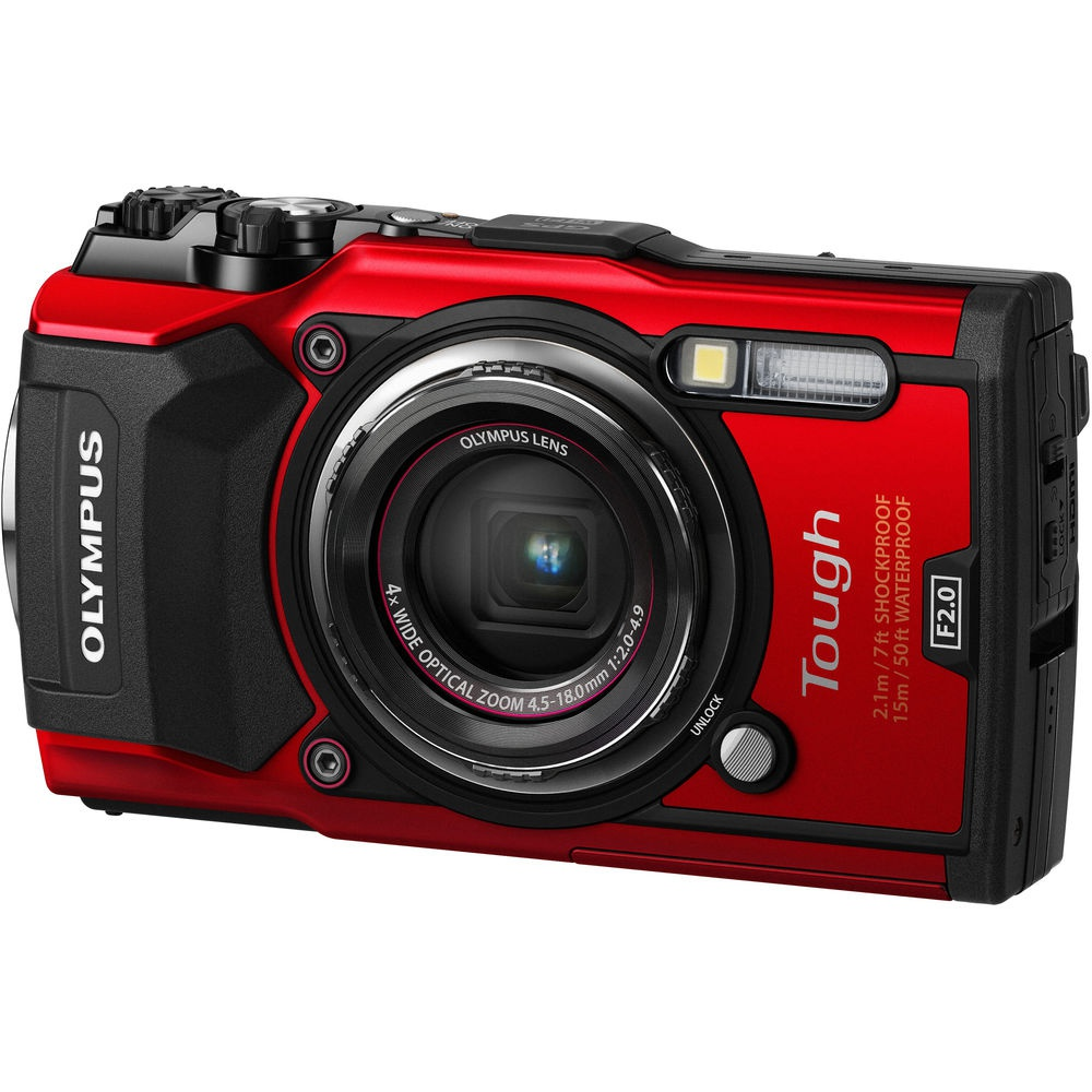 The Olympus Tough TG-5 has a 12-MP CMOS sensor.
