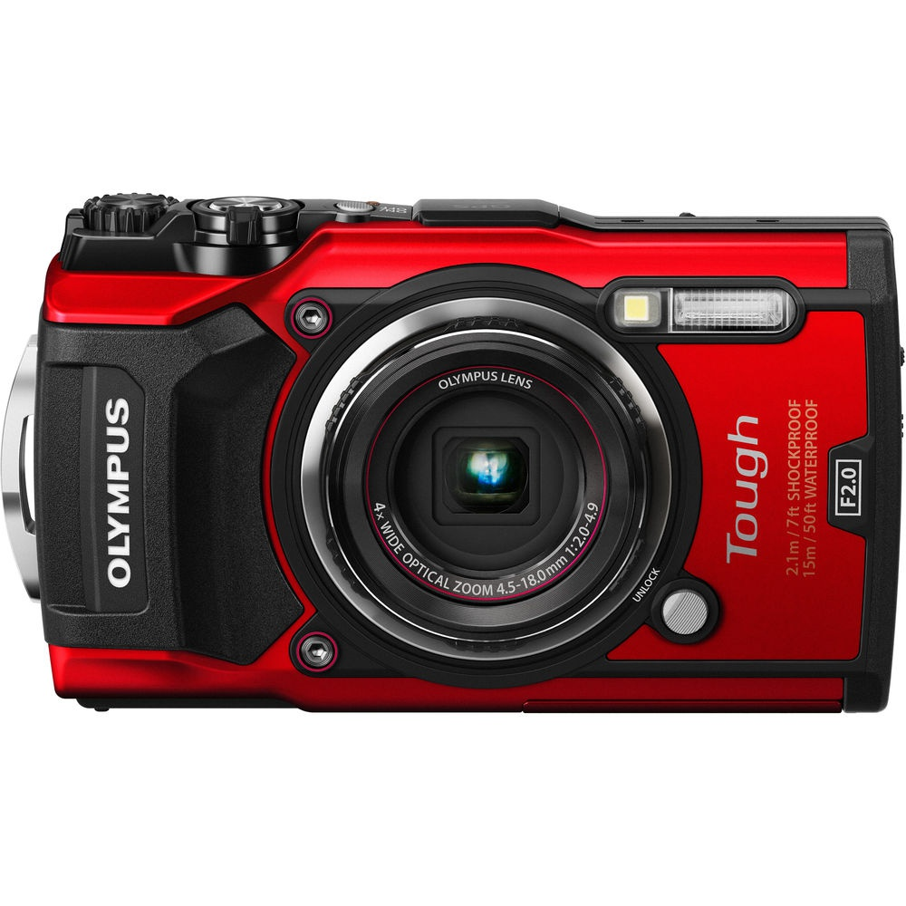 The Olympus Tough TG-5 is waterproof and shockproof.