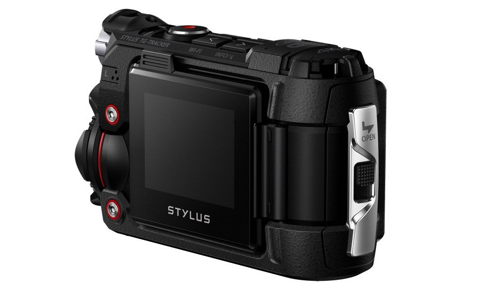 The Olympus Tough TG-Tracker is a compact action cam that is smaller than Olympus' Tough still cameras.